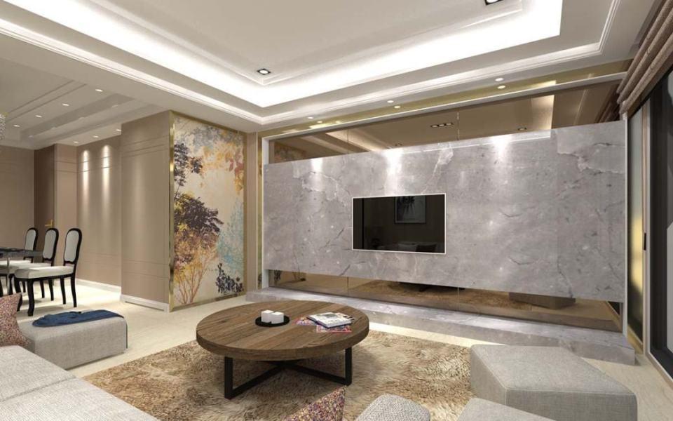 石材实木皮铁本案是由建商委託的建商实品屋规划在