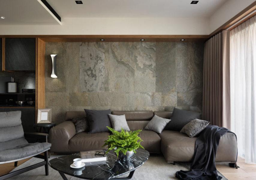 休闲多元沙发主墙设计效果图