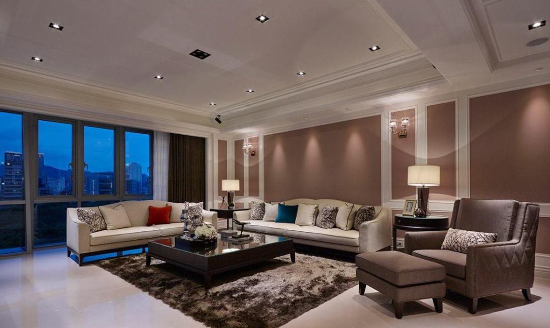 美式风格沙发背墙装修效果图