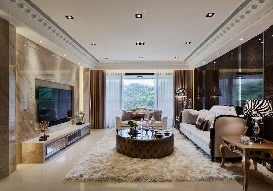 Art Deco奢华风格客厅装修案例