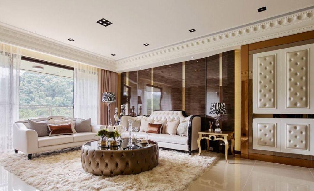 Art Deco奢华风格沙发背墙装修案例