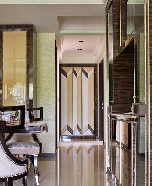 Art Deco奢华风格廊道端景装修案例