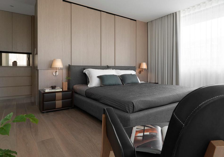 现代风格卧房机能装修图片