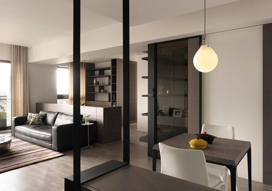 现代风格玄关望向室内装修案例