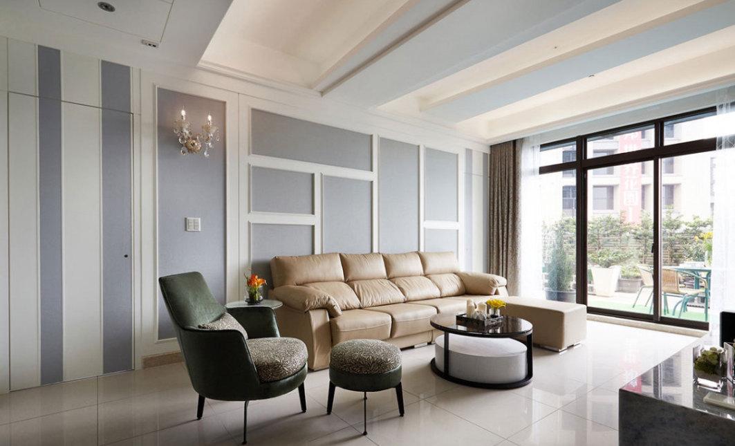 新古典沙发背墙效果图