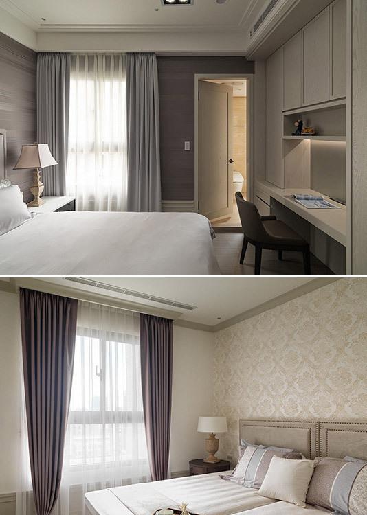乡村风格两间卧室装修图片