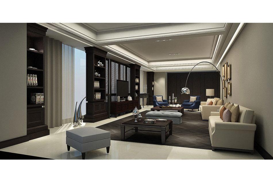 现代风格客厅(一)装修图片