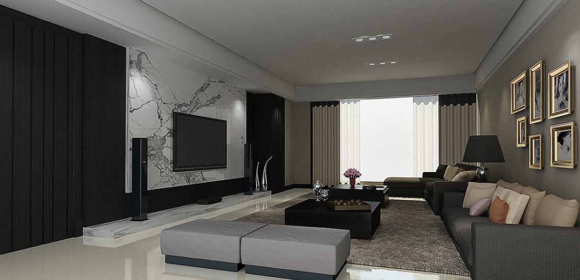 现代风格客厅(二)装修图片