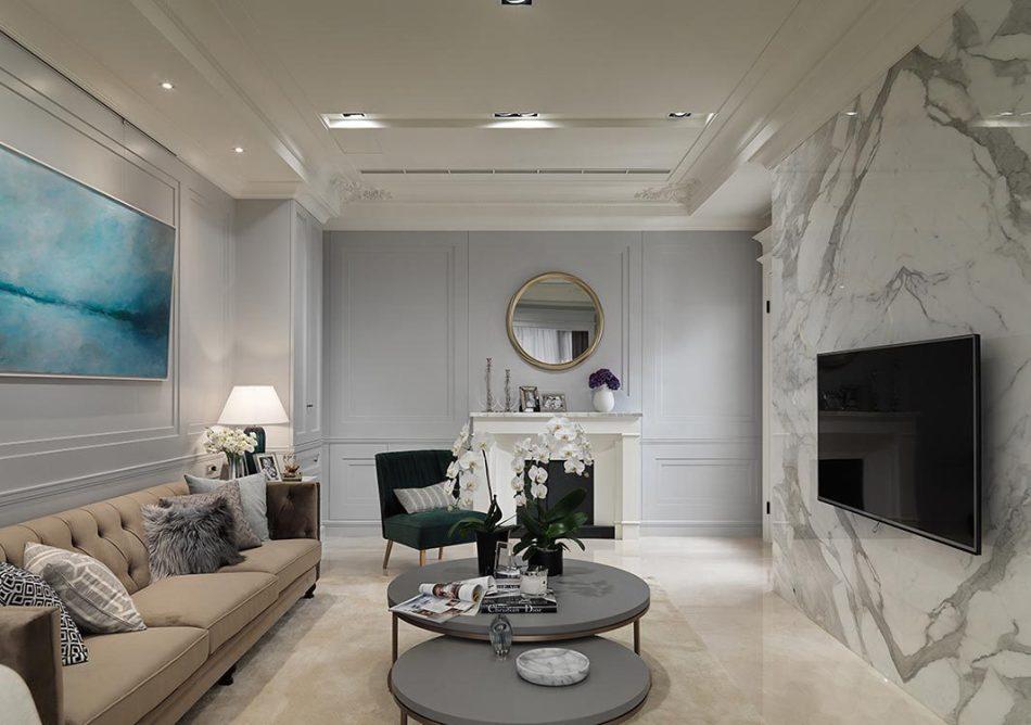 美式风格客厅动线图片
