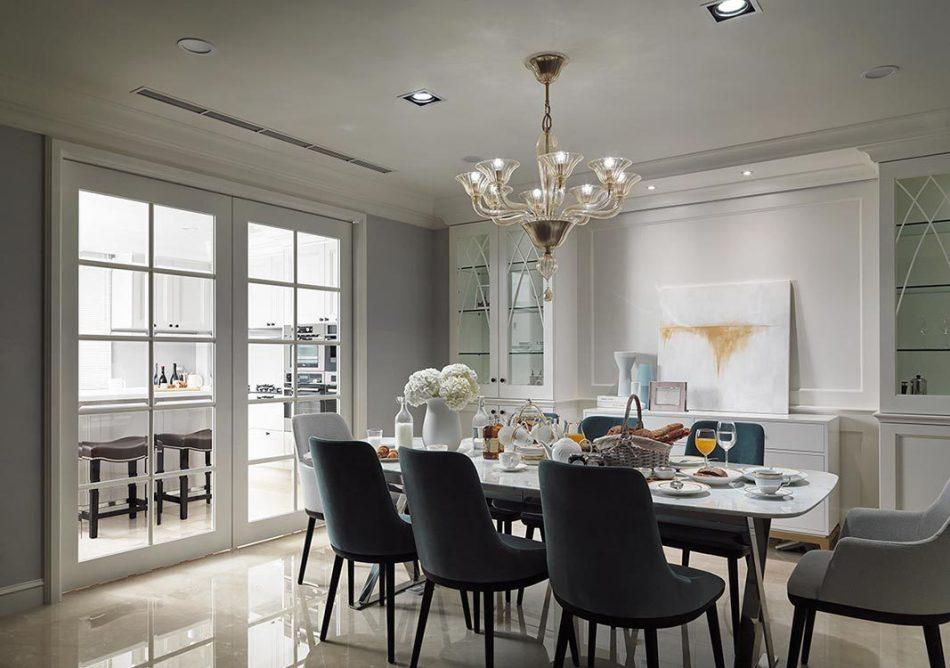 美式风格餐厅望向厨房图片
