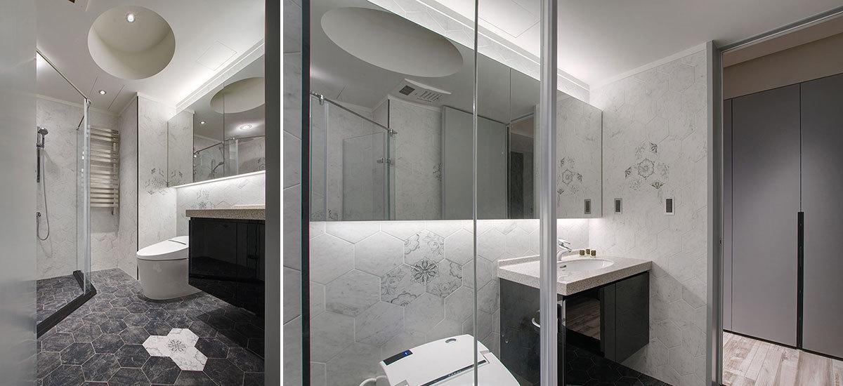 精緻工业风卫浴设计效果图