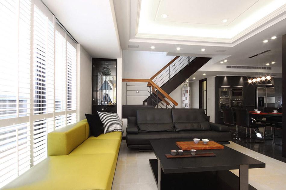 现代风格客厅望向餐厅装修效果图