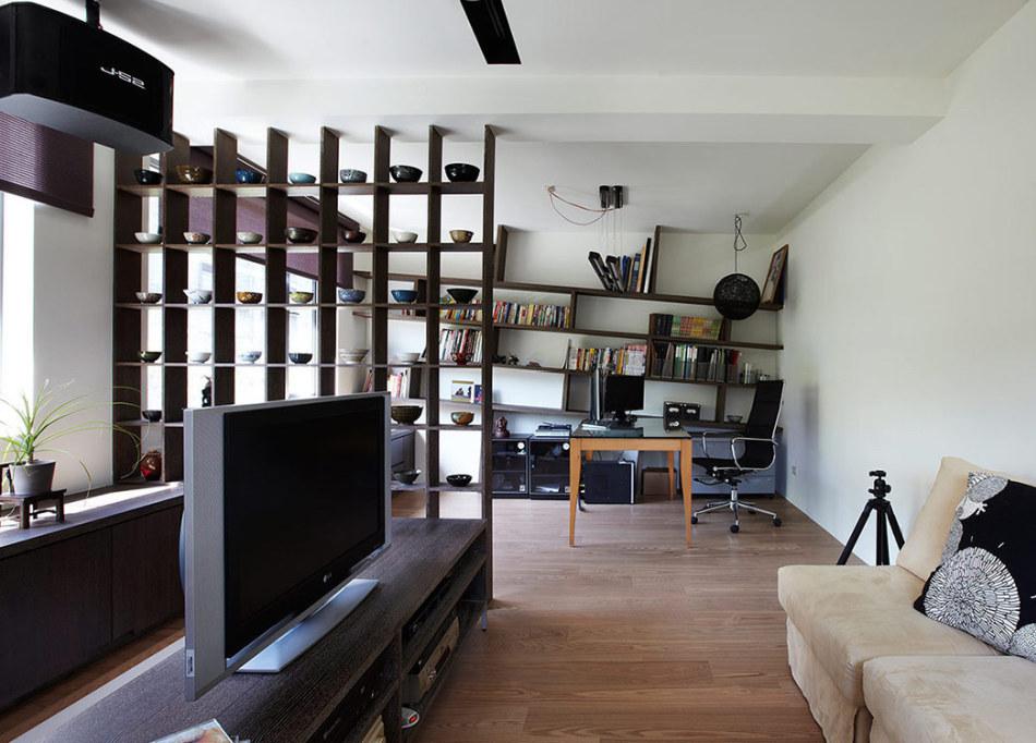 现代风格书房及视听室装修效果图