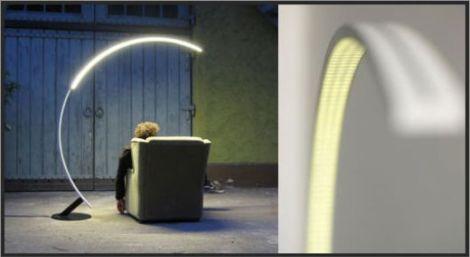 弧形落地灯的创意思