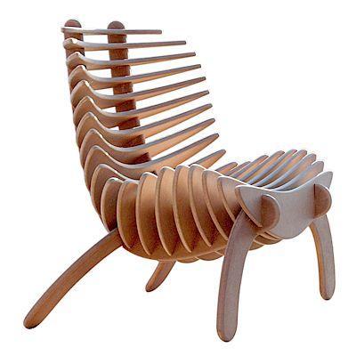 纯粹的生态鱼刺椅