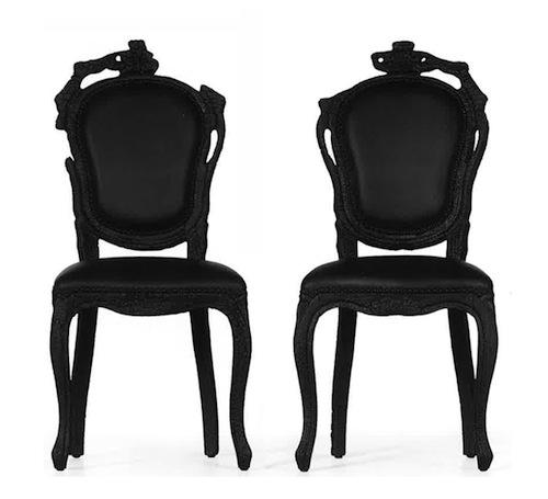 巴洛克风格的烟雾餐椅