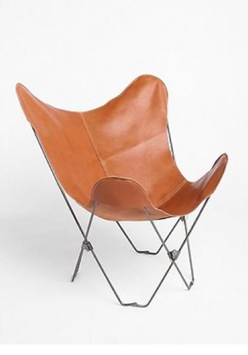 皮革蝴蝶椅