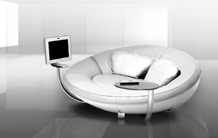 奇妙的舒适的沙发