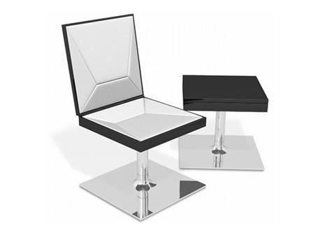 茶几或皮椅设计