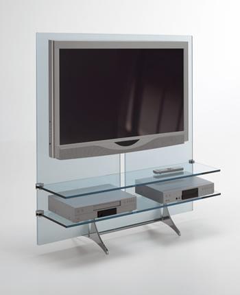 意大利现代玻璃电视架