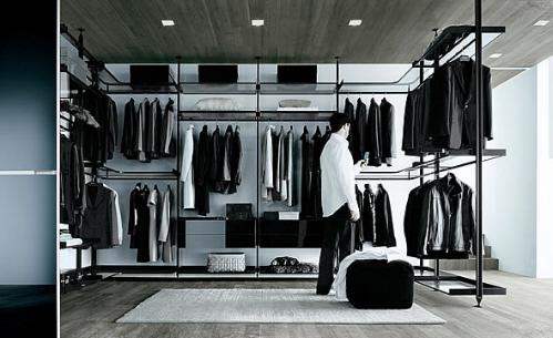 现代衣橱搁置系统组织