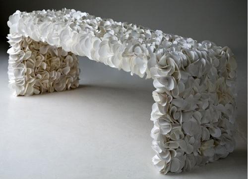 可持续发展的现代长凳