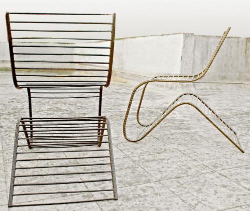 重塑艺术摇椅椅子