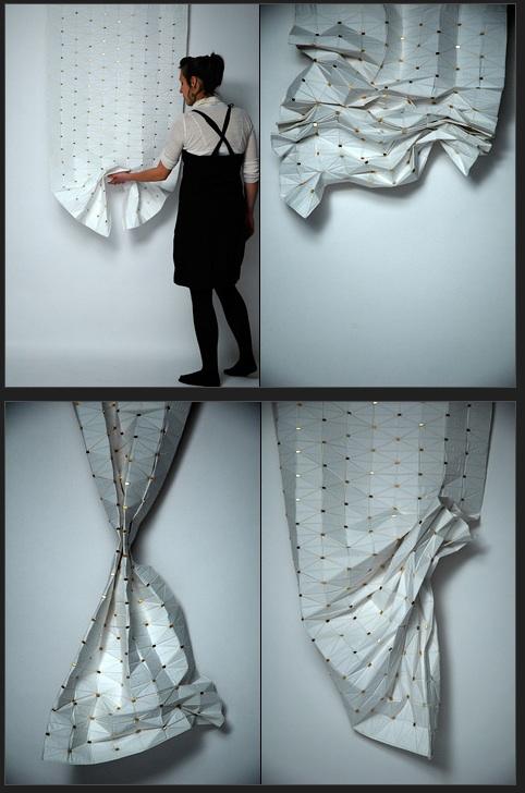 冷静和独特的现代窗帘