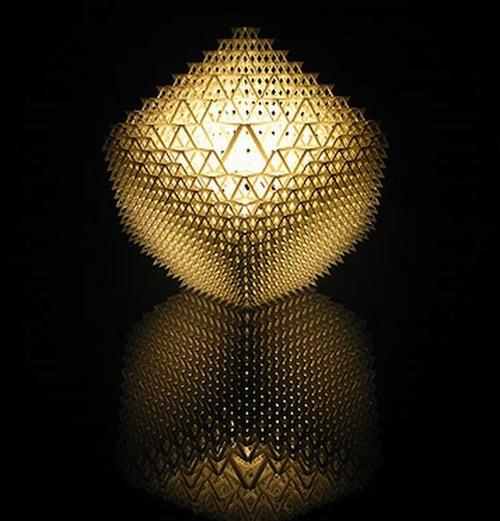 立方体形灯台灯