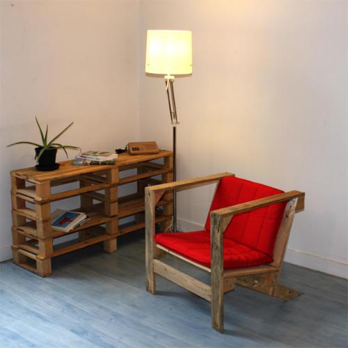 扶手椅带来再生木材