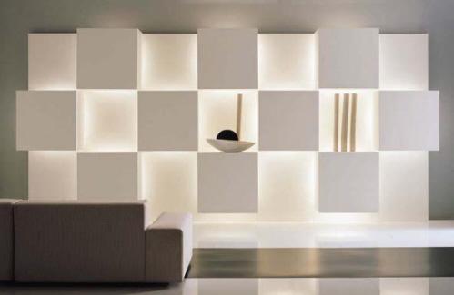 现代电视存储墙