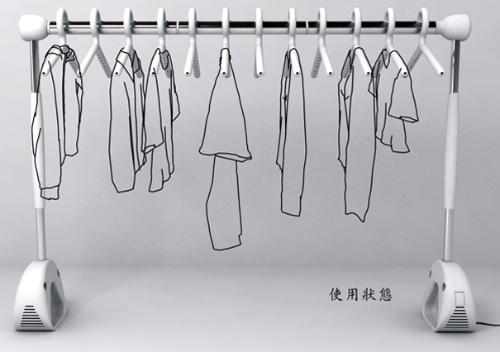 微风晾晒衣服