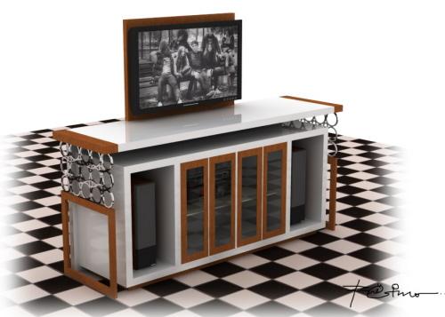现代LCD控制台