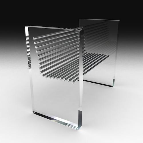全钢结构冰椅