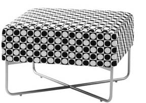 格仔软垫凳餐桌椅