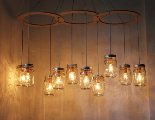 复古现代的玻璃瓶灯