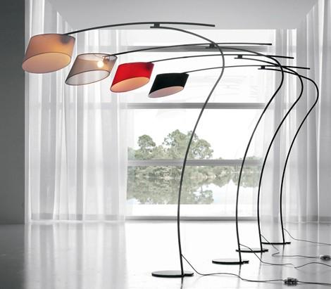 形状设计的落地灯
