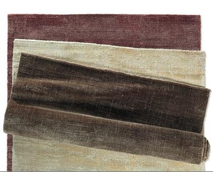 现代手工编织地毯粘
