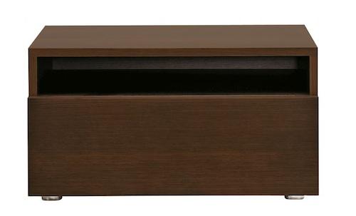 木制左拉床头柜