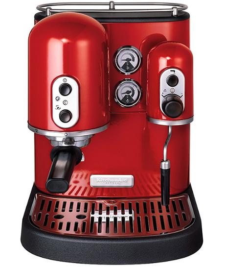 红色的咖啡机