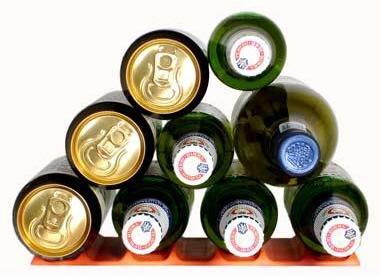 储存葡萄酒瓶在冰箱