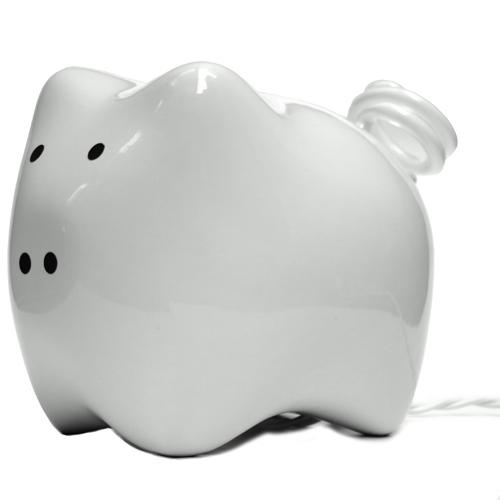 可爱的猪节能电灯设