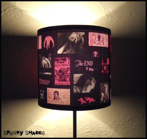 粉红色恐怖灯罩