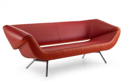 彩色真皮沙发