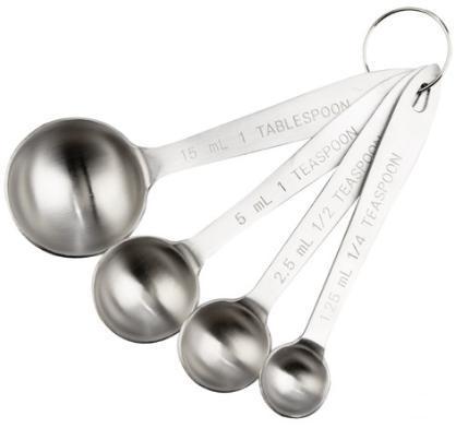 厨房实心钢量匙