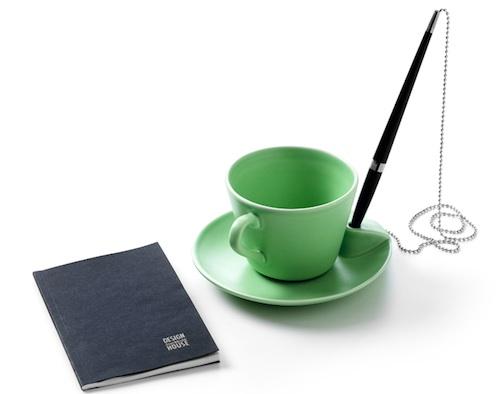 陶瓷杯飞碟自带的笔