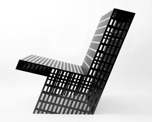 美术馆的椅子和桌子