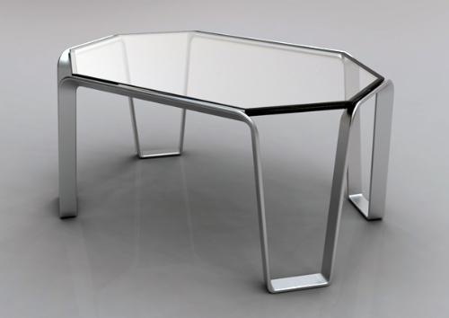 简单的设计结合了铝