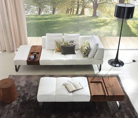 雅舒适皮革沙发