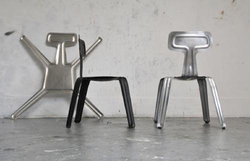 超薄铝堆叠椅